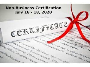 Non Business Certification July 16 18