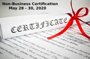 Non Business Certification May 28 30